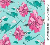 gentle seamless pattern with... | Shutterstock .eps vector #614075540