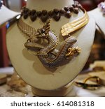 dragon necklace made from... | Shutterstock . vector #614081318