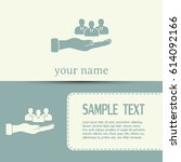 business cards design.group of... | Shutterstock .eps vector #614092166
