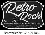 handcrafted vector script... | Shutterstock .eps vector #614094080