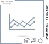 vector icon growth diagram | Shutterstock .eps vector #614095304