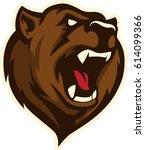 bear head sports logo mascot   Shutterstock .eps vector #614099366