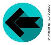 left arrow icon. vector. flat...