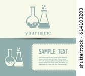 business cards design. vector... | Shutterstock .eps vector #614103203