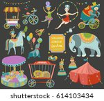 circus entertainment.... | Shutterstock .eps vector #614103434