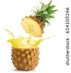 juice splashing out of a...   Shutterstock . vector #614105246