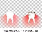 tooths | Shutterstock . vector #614105810