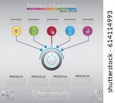 modern clean business circle...   Shutterstock .eps vector #614114993