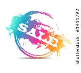 modern color mosaic  sale stamp | Shutterstock .eps vector #61411792
