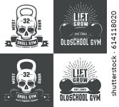 logos for  athletic fitness... | Shutterstock .eps vector #614118020