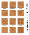 parquet pattern chart   most... | Shutterstock .eps vector #614118338