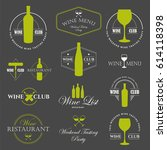 vector illustration with wine... | Shutterstock .eps vector #614118398