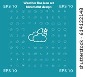 weather vector icon set with... | Shutterstock .eps vector #614122148