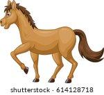 cartoon brown horse   Shutterstock . vector #614128718