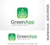 green app logo template   | Shutterstock .eps vector #614135420