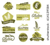 gluten free vector healthy... | Shutterstock .eps vector #614139584
