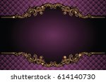 vector luxury frame with border ... | Shutterstock .eps vector #614140730