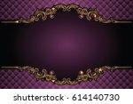 vector luxury frame with border ... | Shutterstock .eps vector #614140730