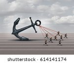 business group challenge as a... | Shutterstock . vector #614141174