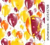sri lanka independence day... | Shutterstock .eps vector #614141708