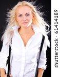 portrait of beautiful bussiness ...   Shutterstock . vector #61414189