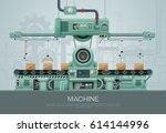 factory industrial machine... | Shutterstock .eps vector #614144996