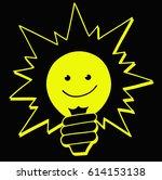 cartoon light bulb. idea sign ...