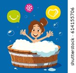 color vector character... | Shutterstock .eps vector #614155706