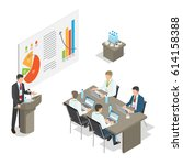 business meeting top managers... | Shutterstock .eps vector #614158388