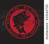 bass fish | Shutterstock .eps vector #614162720
