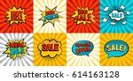 retro sales icon vector card... | Shutterstock .eps vector #614163128