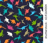 seamless pattern design with... | Shutterstock .eps vector #614164004