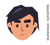 physiognomy of boy. brunet... | Shutterstock .eps vector #614167046