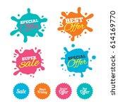 best offer and sale splash...   Shutterstock .eps vector #614169770