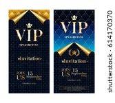 vip party premium invitation... | Shutterstock .eps vector #614170370