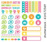 set of stickers for daily... | Shutterstock .eps vector #614172569