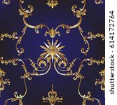 seamless pattern with richly... | Shutterstock .eps vector #614172764