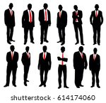 collection of business man... | Shutterstock .eps vector #614174060