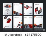 abstract vector business... | Shutterstock .eps vector #614175500