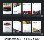 abstract vector business... | Shutterstock .eps vector #614175530