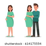 pregnant woman character vector ...