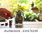 coins growth to profit concept...   Shutterstock . vector #614176130