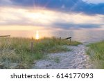 sunset at the baltic sea | Shutterstock . vector #614177093