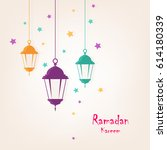 ramadan kareem wallpaper design ... | Shutterstock .eps vector #614180339