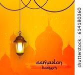 beautiful hanging shiny lamp...   Shutterstock .eps vector #614180360