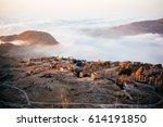 view of the faraya village in... | Shutterstock . vector #614191850