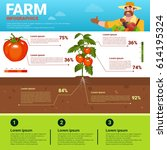 farming infographics eco... | Shutterstock .eps vector #614195324
