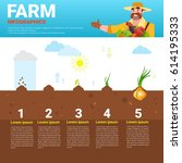 farming infographics eco... | Shutterstock .eps vector #614195333