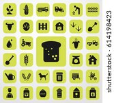 bread icon. agriculture set....   Shutterstock .eps vector #614198423