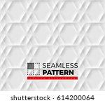 seamless pattern with hexagonal ... | Shutterstock .eps vector #614200064